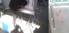 电火花堆焊修复机焊补铝件(铝冰箱模具)